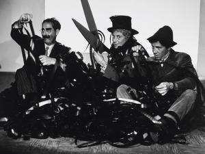Harpo Marx, the Marx Brothers, Chico Marx, Groucho Marx, 1935