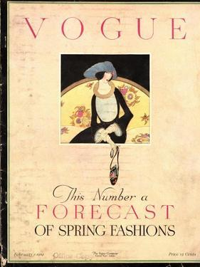 Vogue Cover - February 1919 by Harriet Meserole