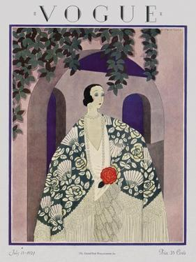 Vogue Cover - July 1924 by Harriet Meserole