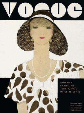 Vogue Cover - June 1930 by Harriet Meserole