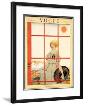 Vogue Cover - March 1920 by Harriet Meserole