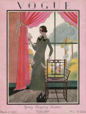 Vogue Cover - March 1923 by Harriet Meserole