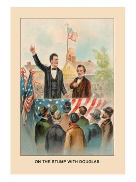 Abe Lincoln, On the Stump with Douglas by Harriet Putnam