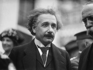 Albert Einstein in Washington, c.1922 by Harris & Ewing
