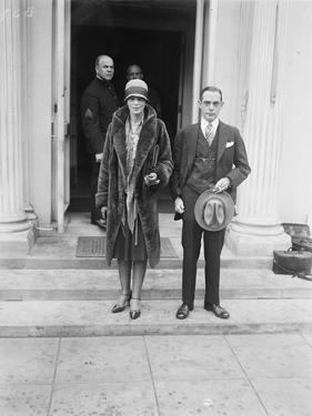 Amelia Earhart at the White House to see President Coolidge after flying the Atlantic, 1928 by Harris & Ewing
