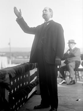 Charles Evans Hughes campaigning in presidential election, 1916 by Harris & Ewing