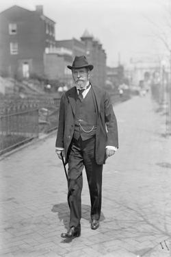 Charles Evans Hughes walking from Union Station Washington DC, 1913-7 by Harris & Ewing