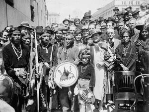 Gathering with Native Americans, Washington D.C., 1936 by Harris & Ewing