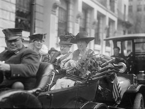 Jeanette Rankin arriving to be sworn into Congress, 1917 by Harris & Ewing