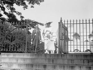 Jeanette Rankin leaving the White House during her first term of office, 1917 by Harris & Ewing