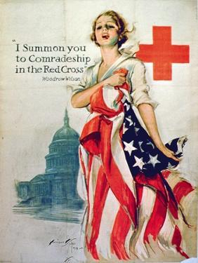 I Summon You to Comradeship in the Red Cross, 1st World War Poster, 1918 by Harrison Fisher