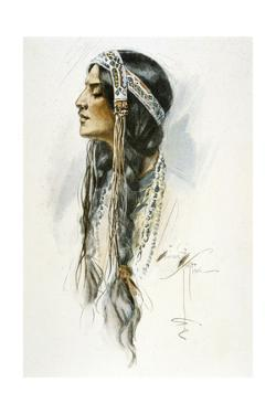 Racial, Iroquois Woman by Harrison Fisher
