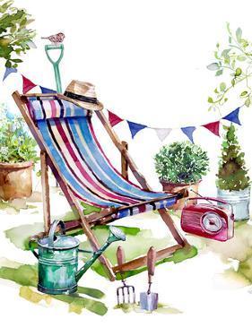 Deckchair In The Garden by Harrison Ripley