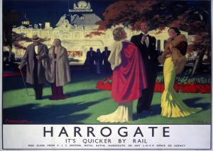 Harrogate, It's Quicker by Rail