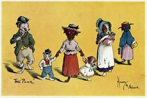 The Poor -- Dogs in Shabby Clothes by Harry B Neilson