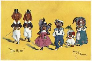 The Rich -- Dogs in their Best Clothes by Harry B Neilson