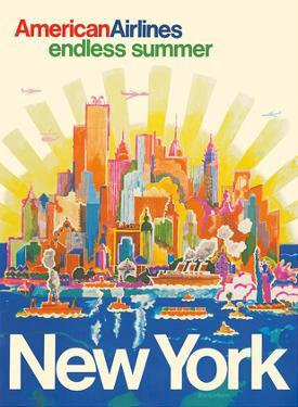 New York - American Airlines - Endless Summer by Harry Bertschmann