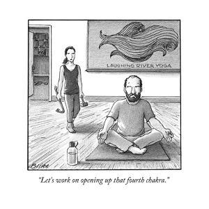 """Let's work on opening up that fourth chakra."" - New Yorker Cartoon by Harry Bliss"