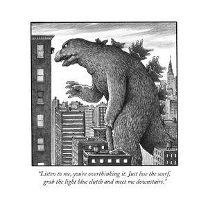 """""""Listen to me, you're overthinking it. Just lose the scarf, grab the light?"""" - Cartoon by Harry Bliss"""