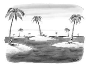 Many desert islands. - New Yorker Cartoon by Harry Bliss
