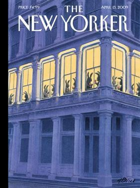 The New Yorker Cover - April 13, 2009 by Harry Bliss
