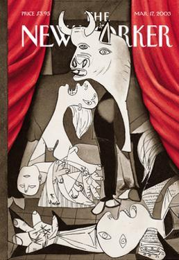 The New Yorker Cover - March 17, 2003 by Harry Bliss