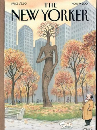 The New Yorker Cover - November 19, 2001 by Harry Bliss