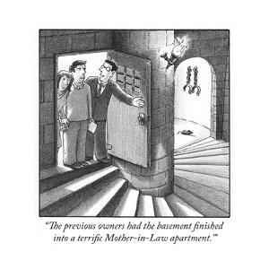 """""""The previous owners had the basement finished into a terrific Mother-in-L…"""" - Cartoon by Harry Bliss"""