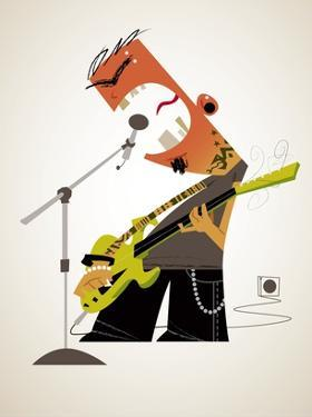 Aggressive rock musician by Harry Briggs