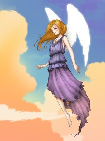 Angel In The Clouds by Harry Briggs