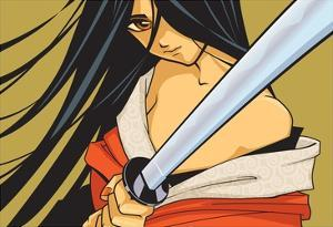 Anime Fighter with Sword by Harry Briggs