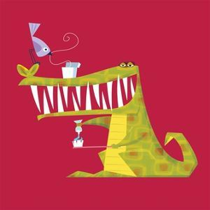 Crocodile brushing his teeth by Harry Briggs