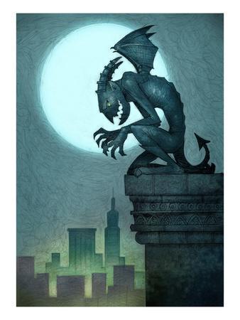 Gargoyle on ledge