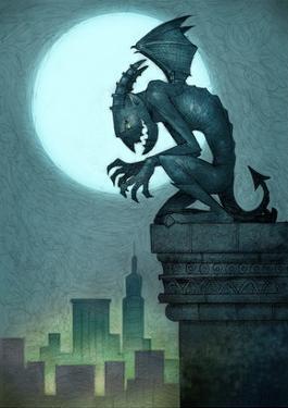 Gargoyle on ledge by Harry Briggs