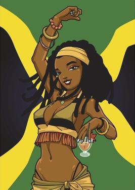Jamaican Anime Girl by Harry Briggs