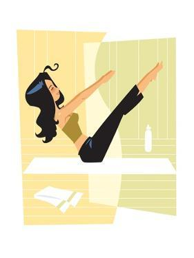 Woman doing Pilates by Harry Briggs