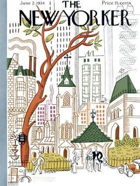 The New Yorker Cover - June 2, 1934 by Harry Brown
