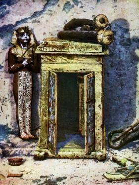 Golden Shrine in the Antechamber of Tutankhamun's Tomb, Egypt, 1933-1934 by Harry Burton