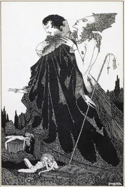 Illustration from 'Selected Poems of Algernon Charles Swinburne Clarke', Published in 1928 by Harry Clarke