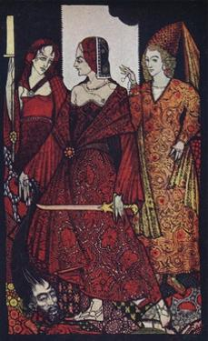 'Queens Who Cut the Bogs of Glanna, Judith of Scripture, and Glorianna', 1910 by Harry Clarke