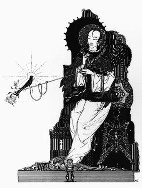 """The Emperor and the Nightingale, Illustration for """"The Nightingale"""" by Harry Clarke"""