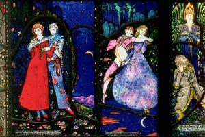 The Geneva Window Depicting 'The Playboy of the Western World' by J.M. Synge, 'The Dreamers' by Harry Clarke