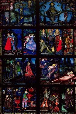 The Geneva Window, Eight Panels Depicting Scenes from Early Irish Literature, 1929 by Harry Clarke