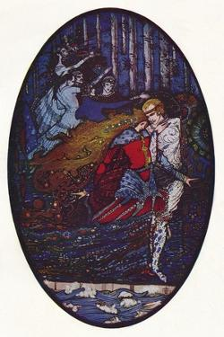 'The Meeting', c1918 by Harry Clarke