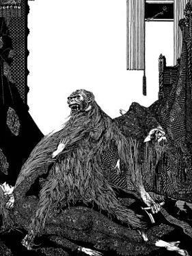 The Murders in the Rue Morgue by Harry Clarke