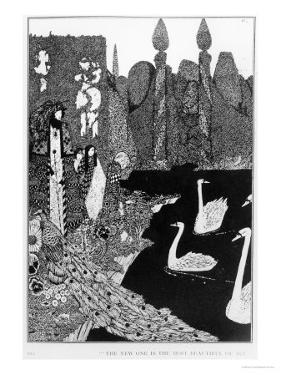 "The New One is the Most Beautiful of All, Illustration for ""The Ugly Duckling"" by Harry Clarke"