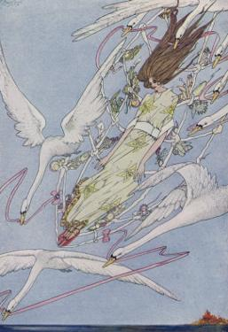 The Princess Carried by the Swans by Harry Clarke
