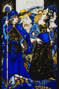 The Queens of Sheba, Meath and Connaught'. 'Queens', Nine Glass Panels Acided, Stained and… by Harry Clarke