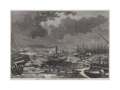 Breaking Up of the Ice at New York, a View from the East River