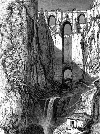 Puente Nuevo, Ronda, Spain, 19th Century